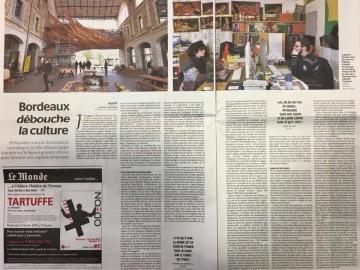[Presse] LE MONDE - Bordeaux débouche la culture